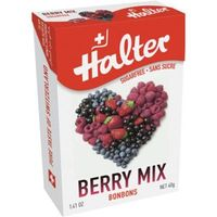 HALTER Bonbons Fruits Rouges Sans Sucre 40g