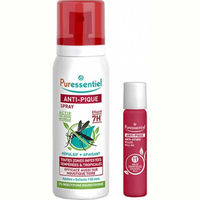 PURESSENTIEL Anti-Pique Duo Pack Spray Répulsif Apaisant 75ml + Roller Apaisant 5ml