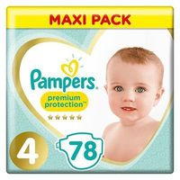 PAMPERS Premium Protection taille 4 Maxi Pack 78 couches