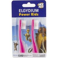 ELGYDIUM Power Kids Recharge Tête de Brosse Age de Glace Rose - Lot de 2