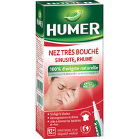 HUMER Nez Très Bouché Sinusite Rhume Spray 15ml