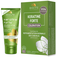 BIOCYTE Keratine Forte Coloration 60 gélules + Shampooing 200ml OFFERT