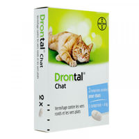 DRONTAL Vermifuge Chat Duo 2 comprimés