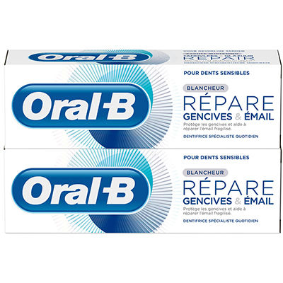 ORAL B Dentifrice Gencives & Email Blancheur 2x75ml