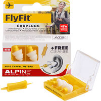 ALPINE Hearing Protection FlyFit Bouchons d'Oreille + 1 Embout Nettoyant