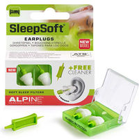 ALPINE Hearing Protection SleepSoft Bouchons d'Oreille + 1 Embout Nettoyant