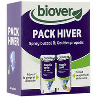 BIOVER Pack Hiver Spray Buccal 23ml + Gouttes Propolis 50ml