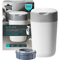 TOMMEE TIPPEE Poubelle à Couches Twist & Click Blanc