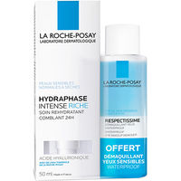 LA ROCHE POSAY Hydraphase Intense Riche 50ml + Démaquillant 50ml OFFERT
