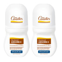 Rogé Cavaillès Déodorant Absorb+ Efficacité 48h Roll-on 2x50ml