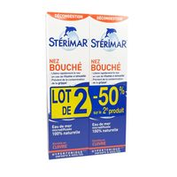 STERIMAR Nez Bouché Adulte Spray Nasal Hypertonique 2x100ml
