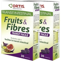 ORTIS Fruits & Fibres Comprimés - Lot de 2
