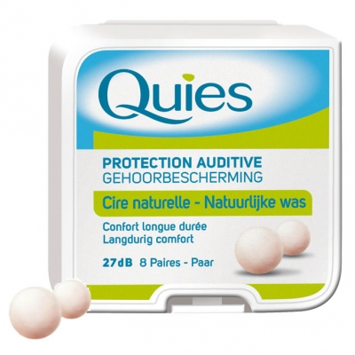QUIES Protection Auditive en Cire x8