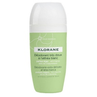 KLORANE Déodorant Très Doux à l'Althéa Blanc Roll-on 40ml