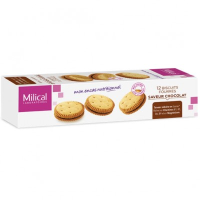 MILICAL Biscuits Fourrés Chocolat x12