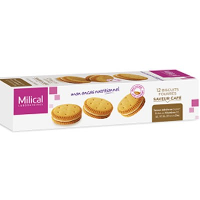 MILICAL Biscuits Fourrés Café x12