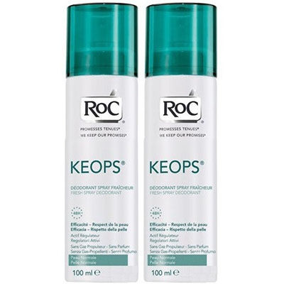 ROC KEOPS Déodorant Fraîcheur Spray - Lot de 2