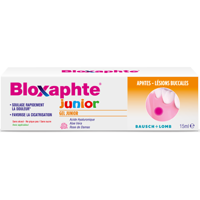 BLOXAPHTE JUNIOR Gel Aphtes et Lésions Buccales Tube de 15ml