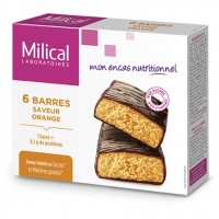 MILICAL Barres Minceur Orange x6