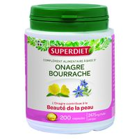 SUPER DIET Onagre Bourrache Bio 200 capsules