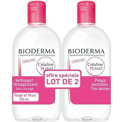 BIODERMA CREALINE TS H2O 500ml - Lot de 2