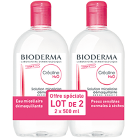 BIODERMA CREALINE H2O Sans Parfum 500ml - Lot de 2