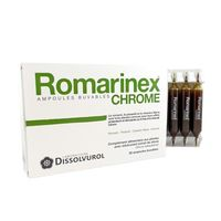 DISSOLVUROL Romarinex Chrome 20 ampoules x 10 ml