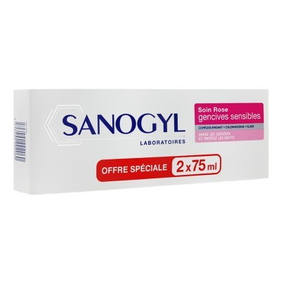 SANOGYL Soin Rose Dentifrice Gencives Sensibles Lot de 2 x 75ml