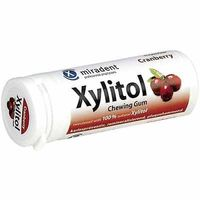 MIRADENT XYLITOL Chewing Gum Cranberry 30