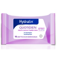 HYDRALIN Quotidien - 10 lingettes intimes