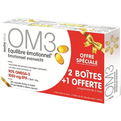 SUPERDIET OM3 OMEGA 3 PACK CURE - Lot de 3 boîtes