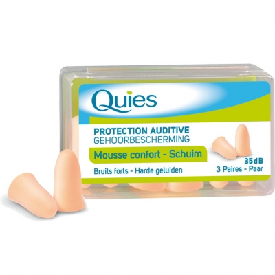 QUIES Protection Auditive Mousse Confort Beige