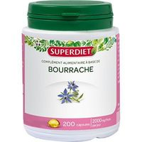 SUPER DIET Huile de Bourrache - 200 capsules