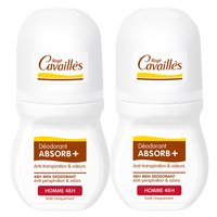 ROGE CAVAILLES Déodorant Absorb+ Homme 48h Roll-on 2x50ml