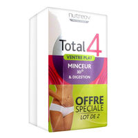 NUTREOV Total 4 Ventre Plat - Lot de 2