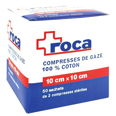 ROCA Compresses de Gaze 100% Coton