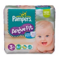 PAMPERS Active Fit 4-9kg Taille 3 - 26 couches