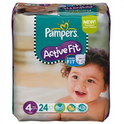 PAMPERS Active Fit 7-18kg Taille 4 - 24 couches
