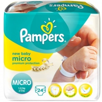 PAMPERS Micro 1-2,5kg Taille 0 - 24 couches
