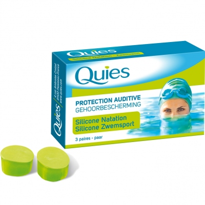 QUIES Protection Auditive Silicone Natation