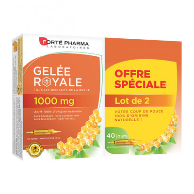 FORTE PHARMA Gelée Royale 1000 mg - Lot de 2