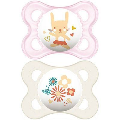 MAM Sucette Silicone 0-6mois x2 - Rose