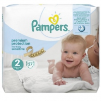PAMPERS New Baby Sensitive 3-6kg Taille 2 - 27 couches