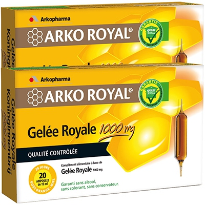 ARKOPHARMA ArkoRoyal Gelée Royale 1000 mg - Lot de 2