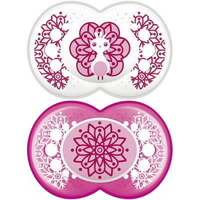 MAM Sucette Silicone +18mois Animaux Fille x2