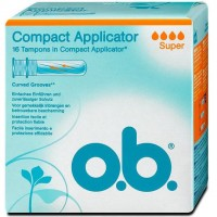 OB Compact Applicator 16 Tampons avec Applicateur Super