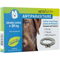 VETOFORM Collier Antiparasitaire Grand Chien +25kg