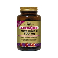 SOLGAR Vitamine C 500mg à croquer - Arôme Orange