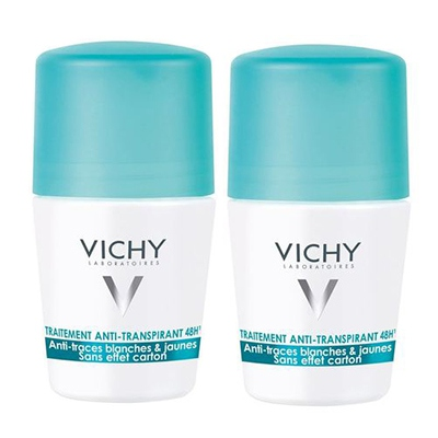 VICHY Traitement Anti-transpirant Anti-traces - Lot de 2