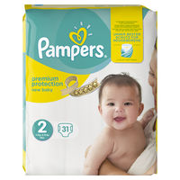PAMPERS Premium Protection 3-6kg Taille 2 - 31 couches